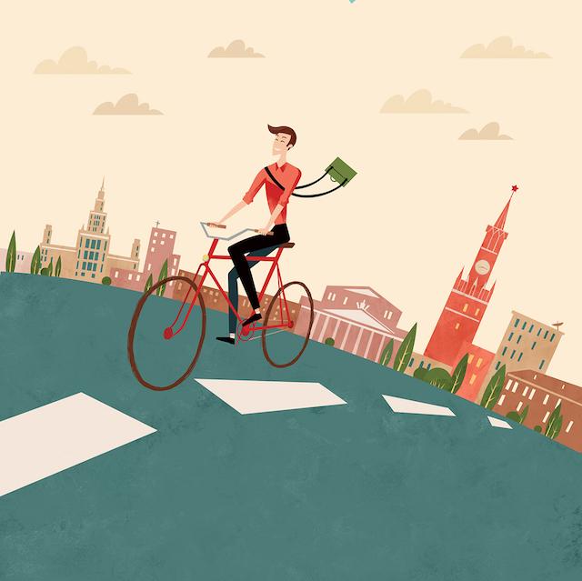 To work by bicycle_Antonina Shvets_urbancycling_2