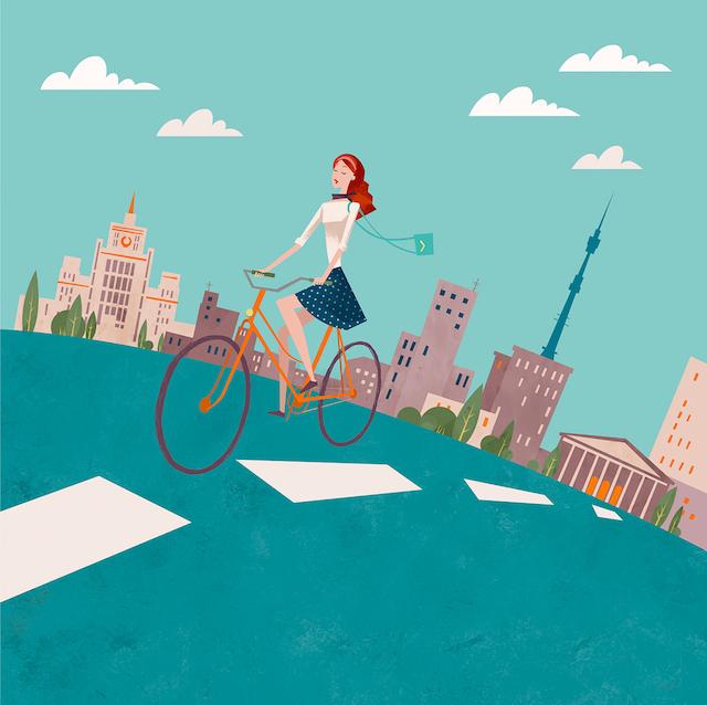 To work by bicycle_Antonina Shvets_urbancycling_3
