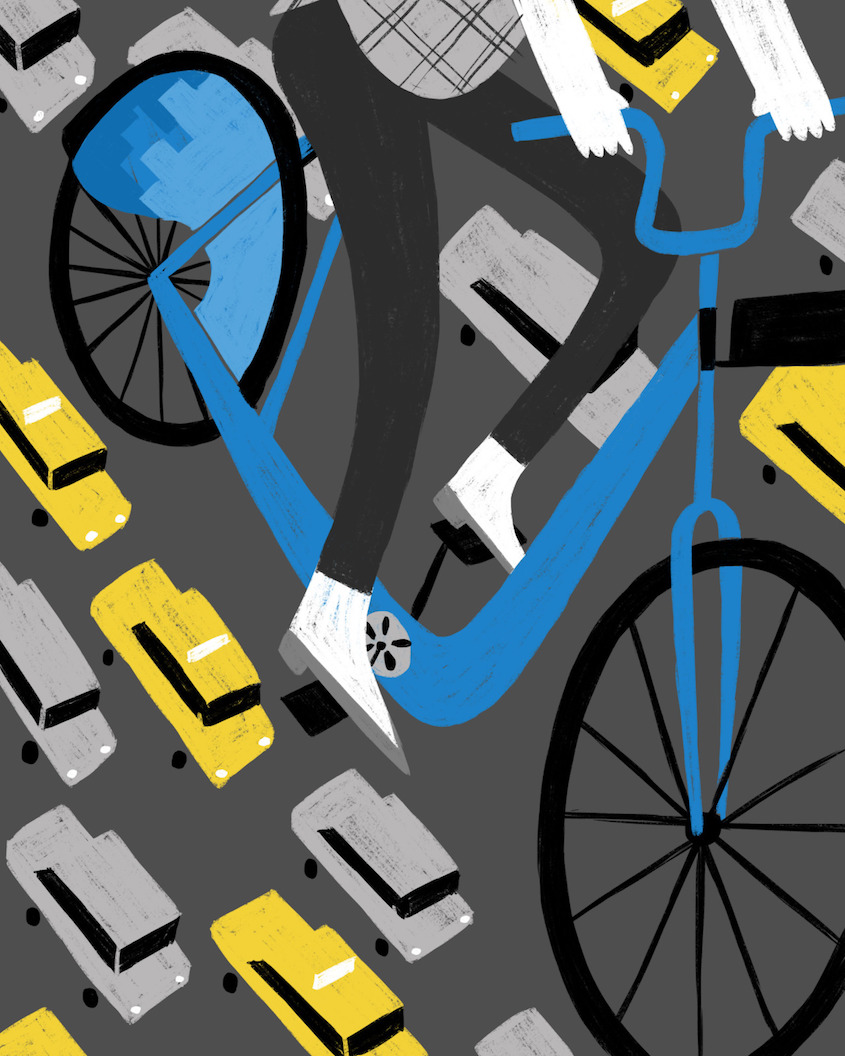 Ellen Surrey illustrations_urbancycling_2