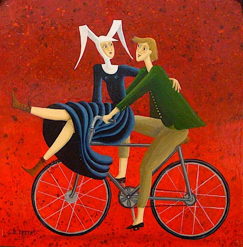 Carole Beatrice Perret paintings_urbancycling_1