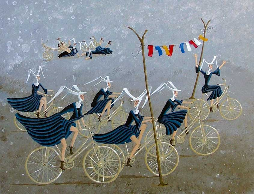Carole Beatrice Perret paintings_urbancycling_2