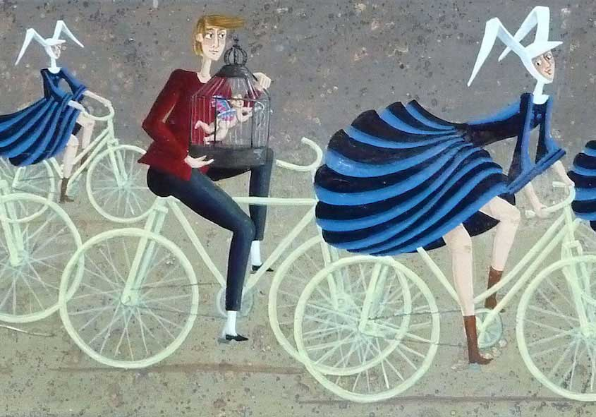 Carole Beatrice Perret paintings_urbancycling_4