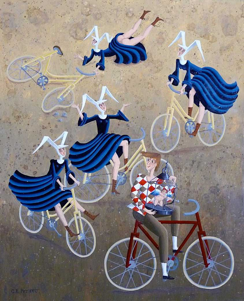 Carole Beatrice Perret paintings_urbancycling_5