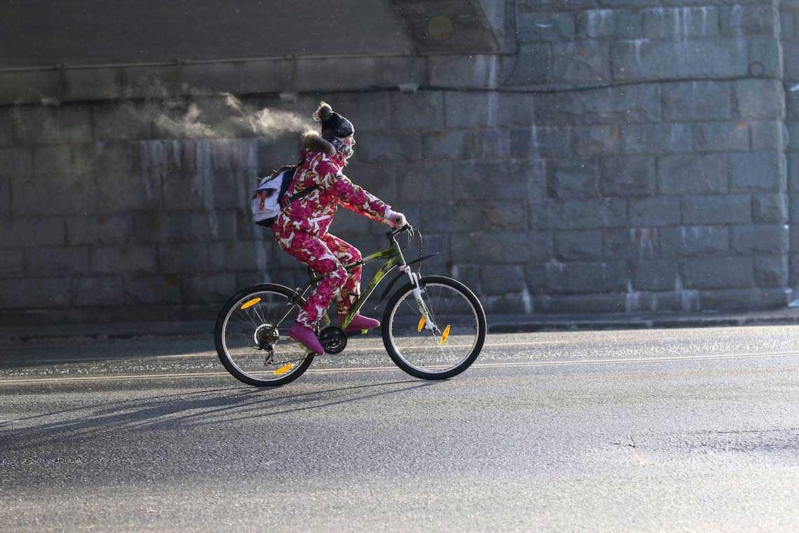 Mosca Winter Bike Parade. Pedalare a -27° si può