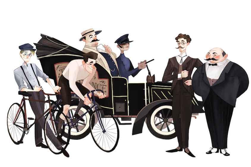Le Tour dClarissa Corradin illustrations_urbancycling_1