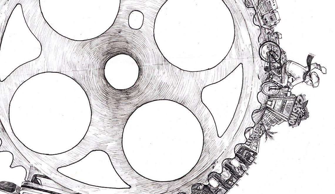 Cycle Ad Illustration by Raf Banzuela