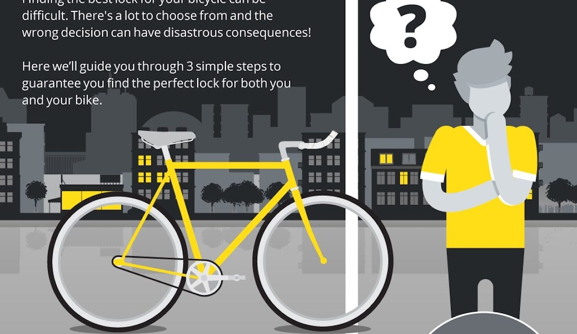 How to choose a bike lock ( 3 steps). Infografica
