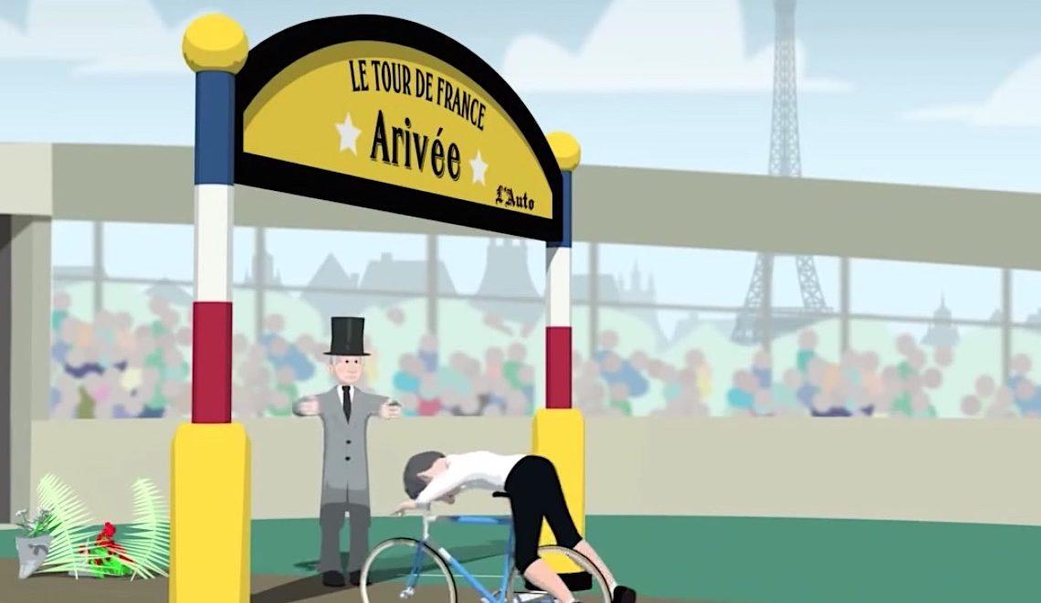 Il Tour De France spiegato con un'animazione