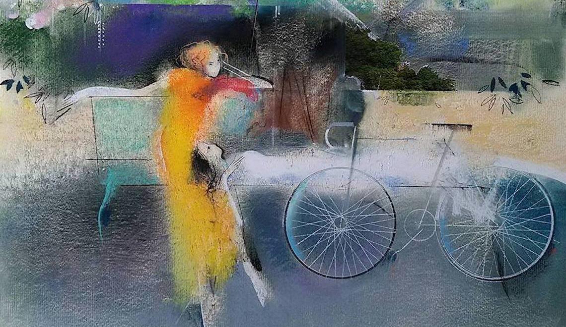 Le donne in bicicletta nei disegni di Vano Abuladze