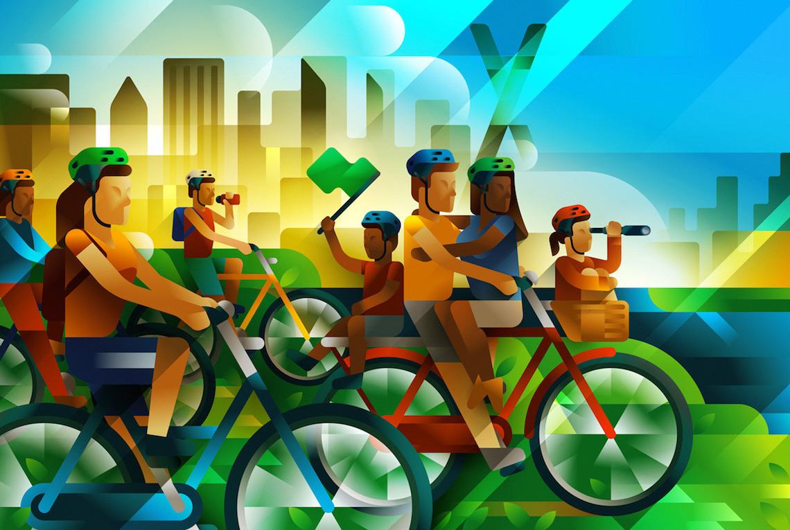 Francesco Faggiano bike illustrations_1