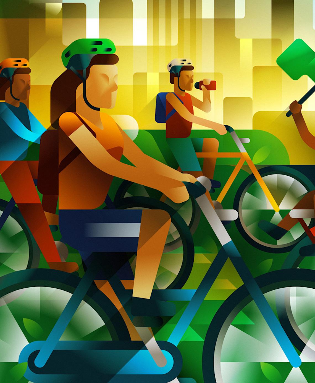 Francesco Faggiano bike illustrations_3