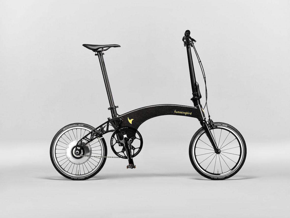 Bicicletta Leggera Pieghevole.La Leggera Bici Pieghevole Hummingbird Diventa Elettrica