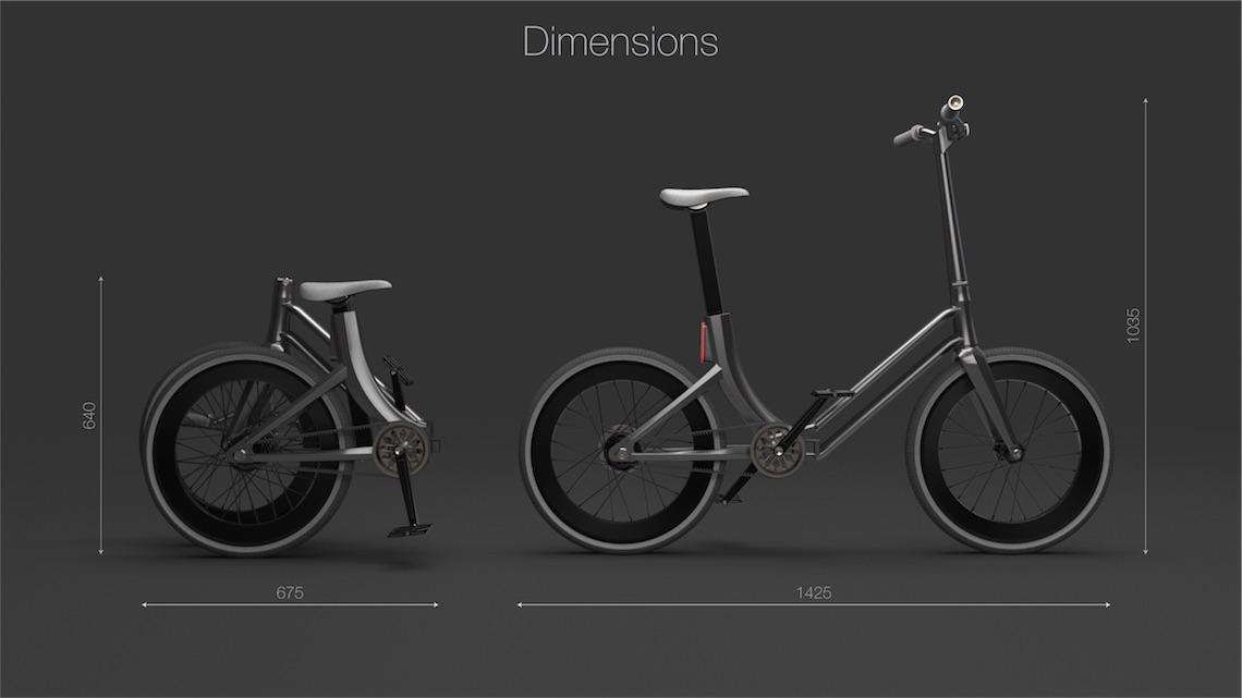 Folding Urban Bike Concept_Martynas Lagauskas_4