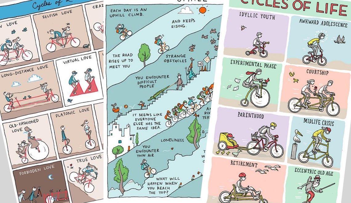 Grant Snider e i suoi fumetti ispirati alla bicicletta