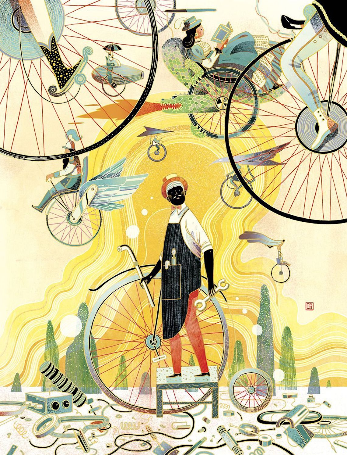 Victo Ngai bicycle_illustrations_2