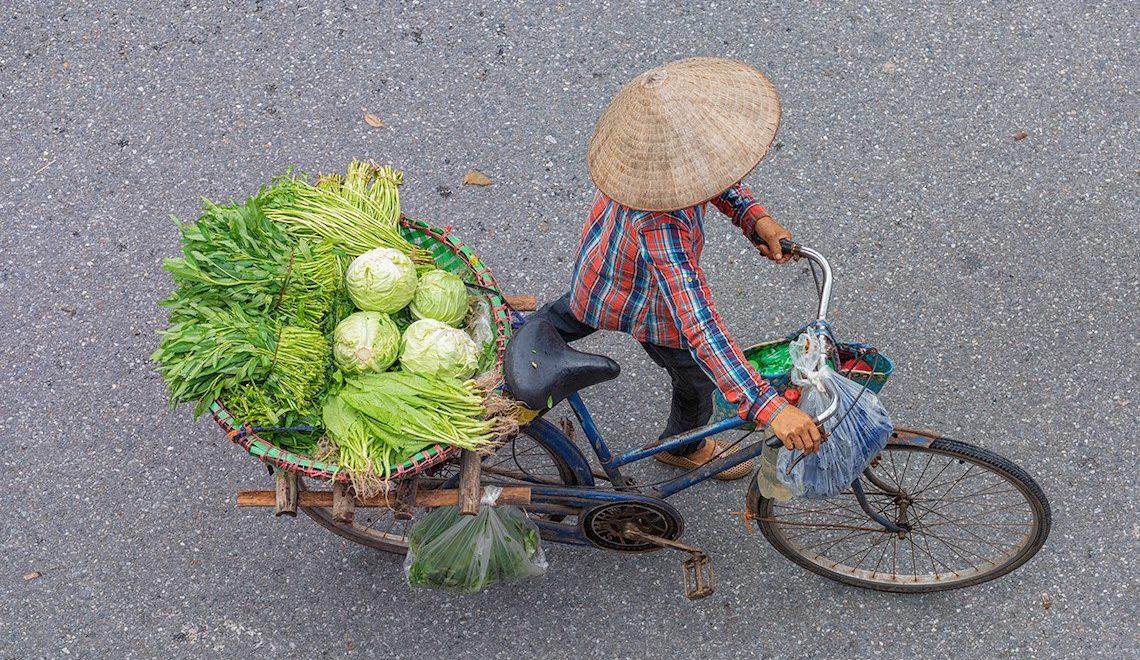 Steet of Hanoi, Vietnam. Fotografie di Dietrich Herlan