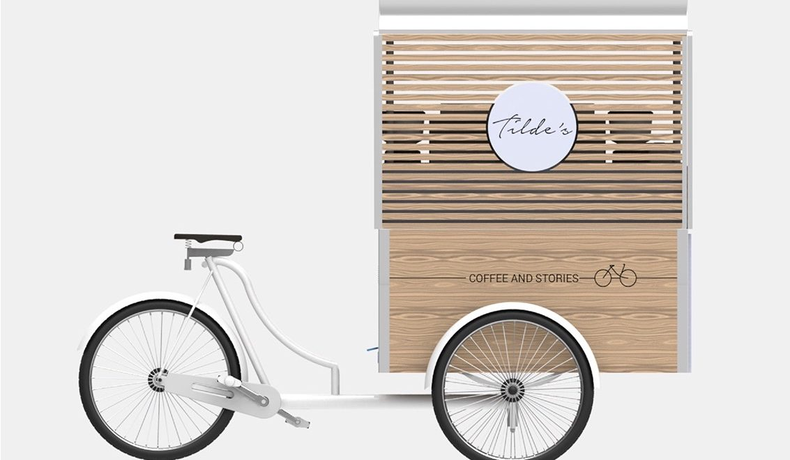 Tilde's Coffee and Stories. Cargo bike e corporate identity