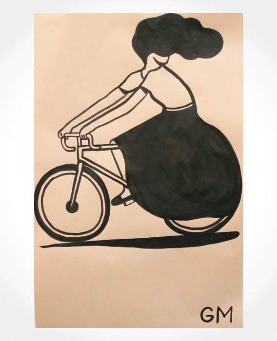Geoff McFetridge cycling illustrations_5