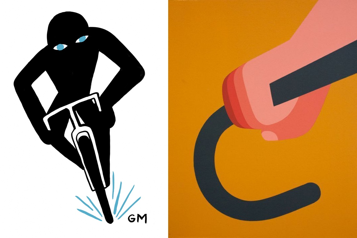 Geoff McFetridge cycling illustrations_7
