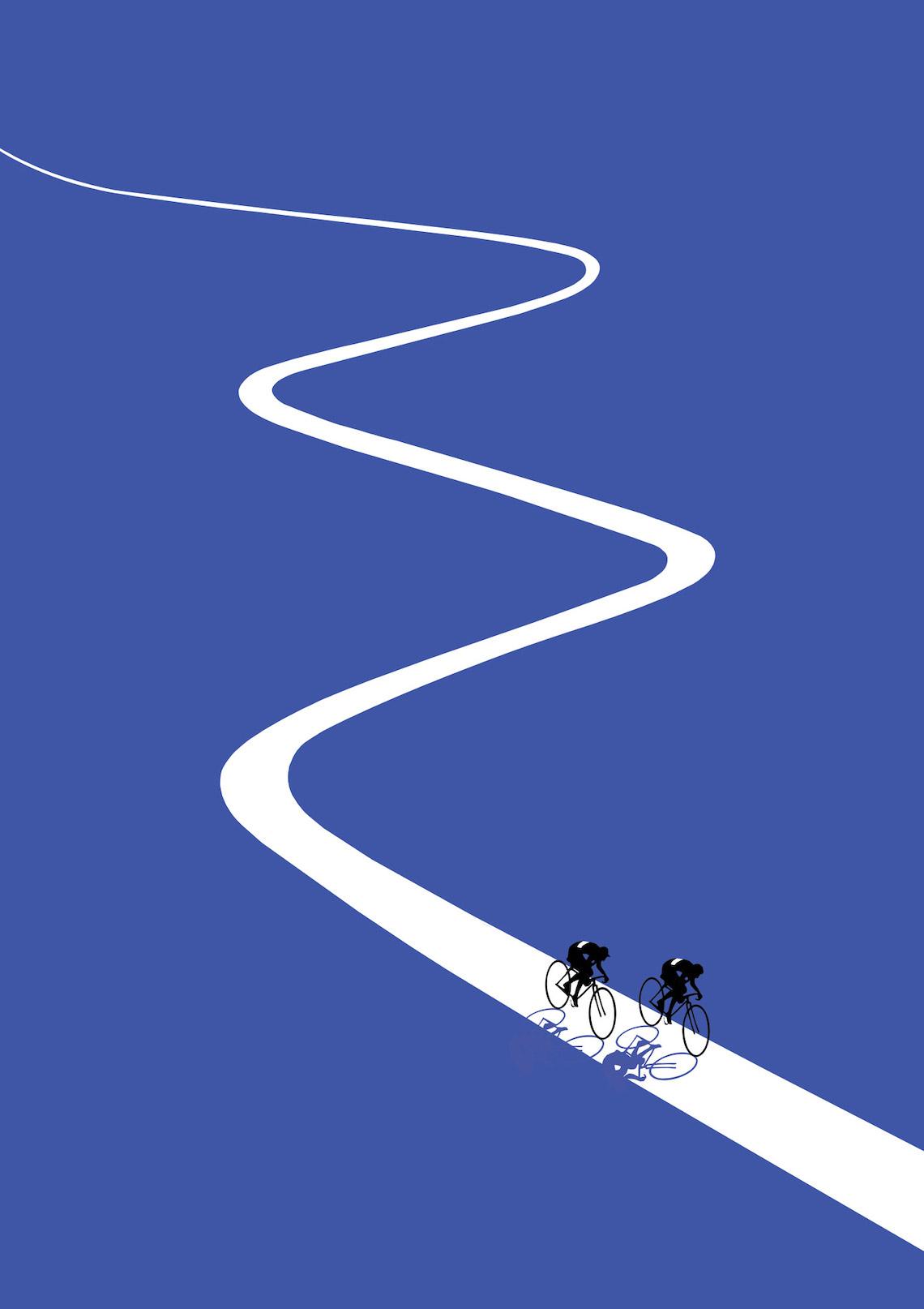 Jason Brooks ciilustrazioni sul ciclismo_1