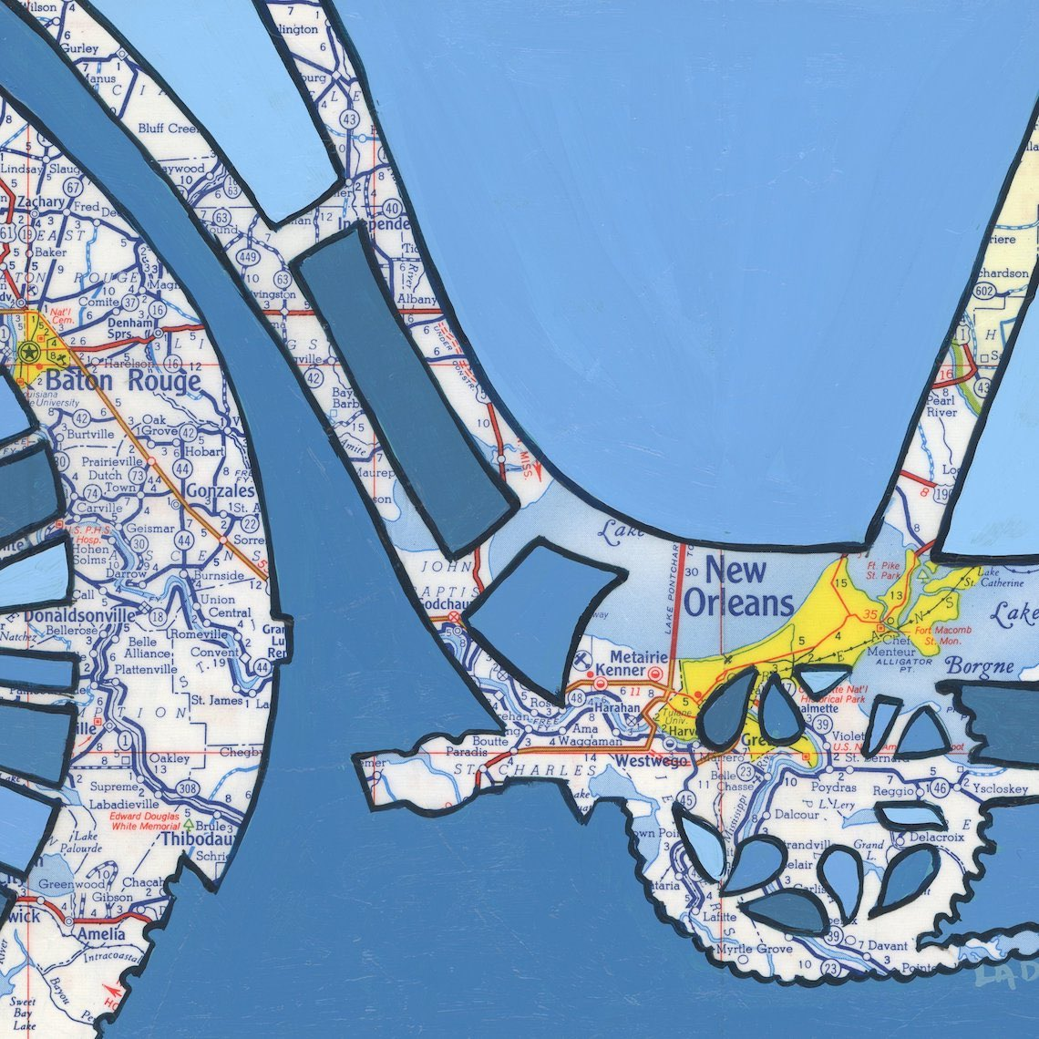 Off The Map Art by Leslie DeRose urbancycling_5