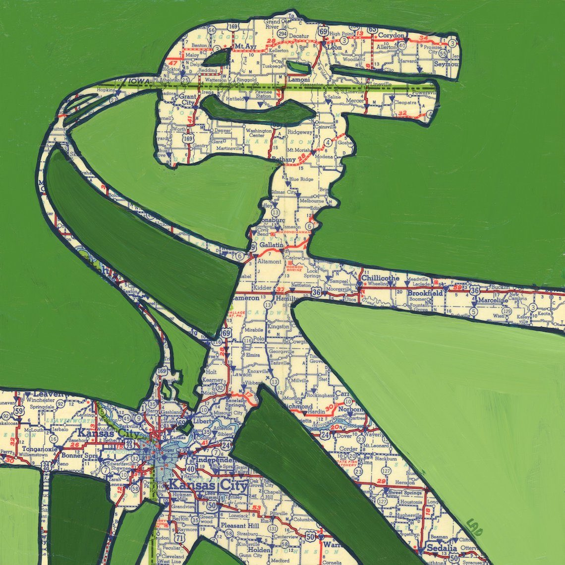 Off The Map Art by Leslie DeRose urbancycling_6