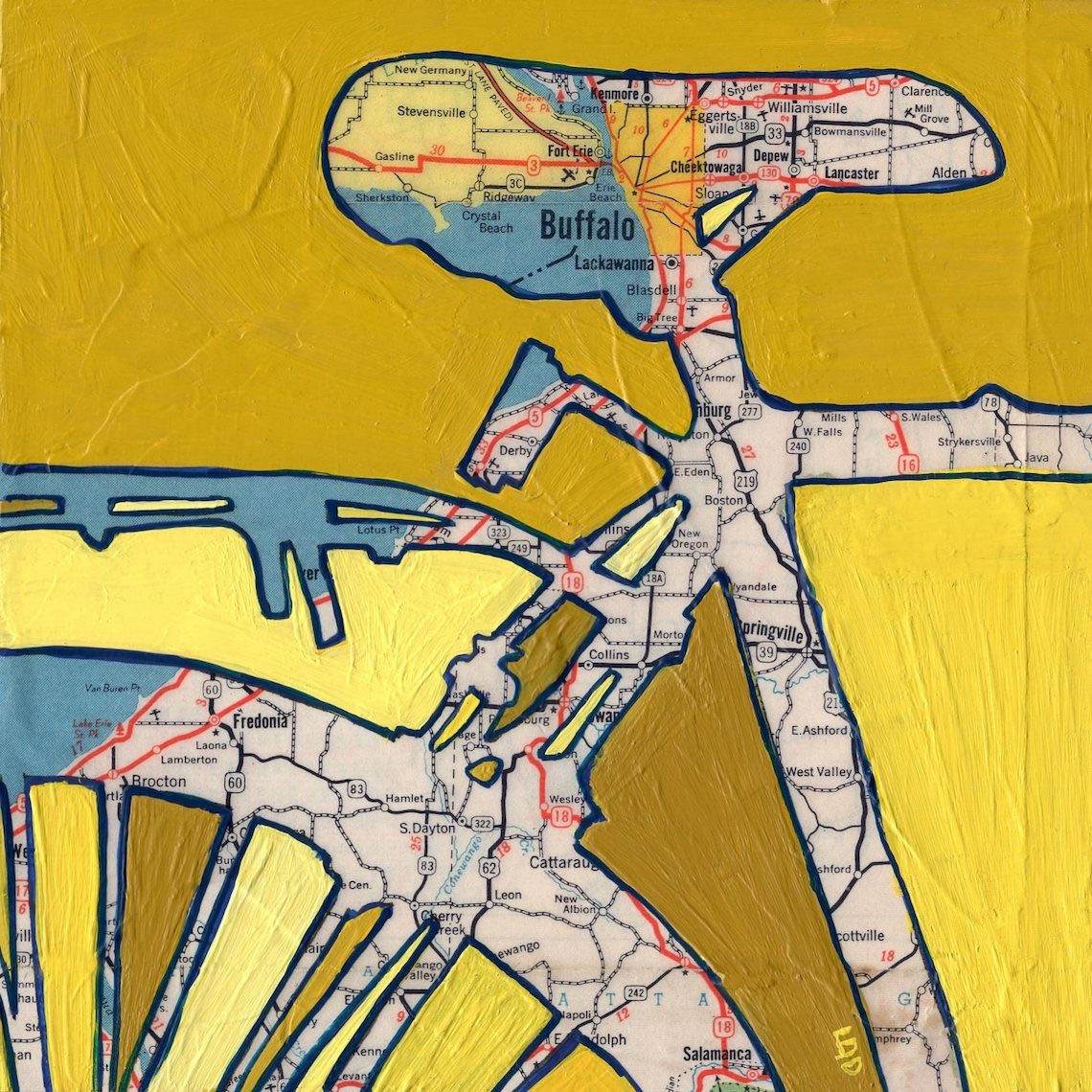 Off The Map Art by Leslie DeRose urbancycling_7