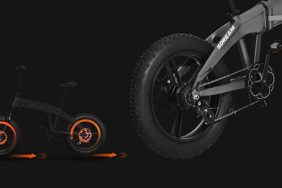 SDREAM La più intelligente E-Bike all-terrain pieghevole_2