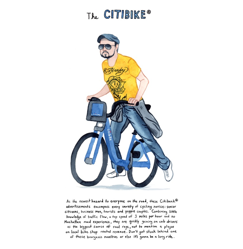 NYC Bikers Kurt McRobert_illustrations_1
