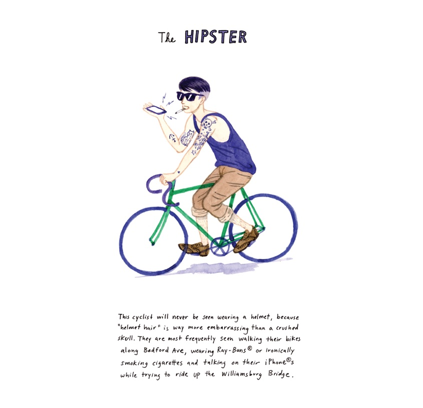 NYC Bikers Kurt McRobert_illustrations_9