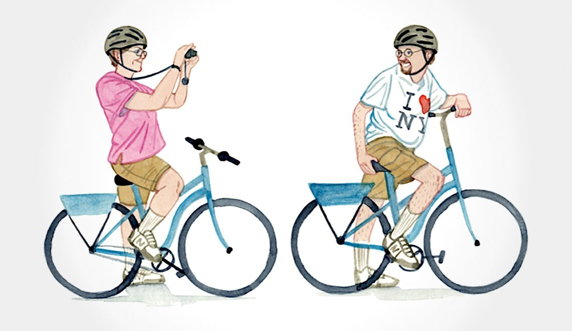 NYC Bikers. Illustrazioni di Kurt McRobert