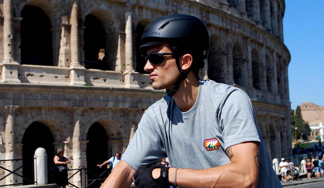 GIRO urban cycling apparel. All'ombra del Colosseo
