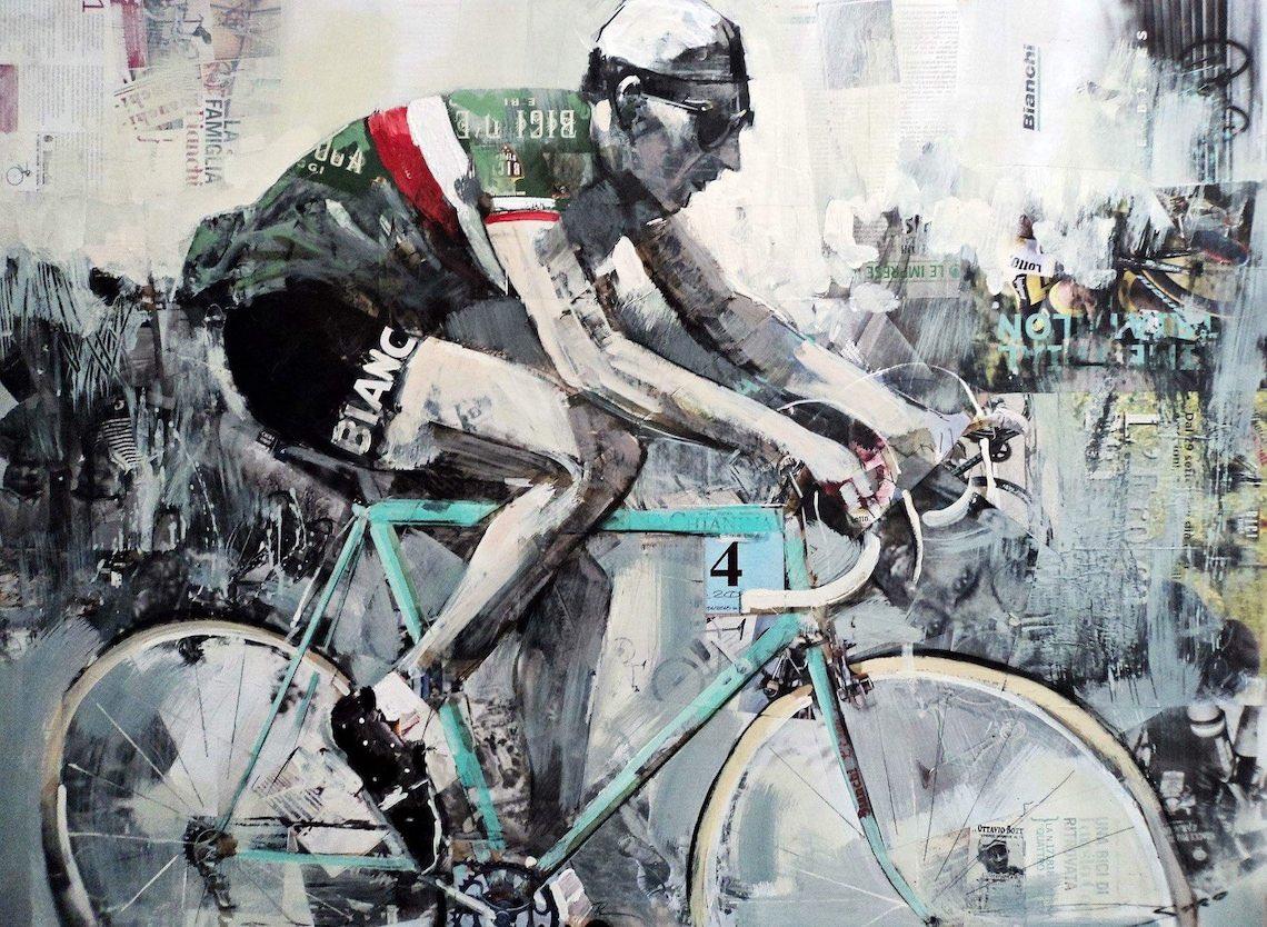 Miguel Soro cycling _art_painting_E
