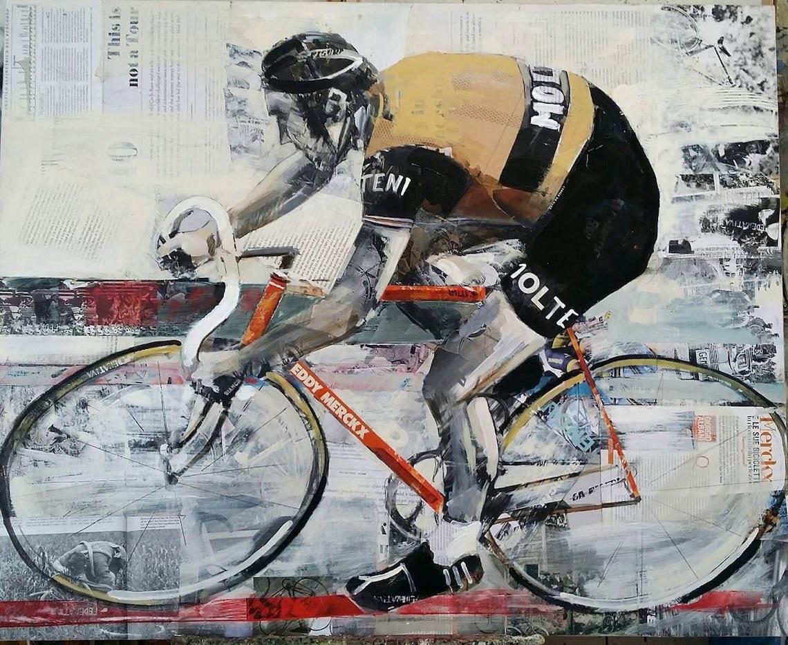 Miguel Soro cycling _art_painting_Eddy_Merckx