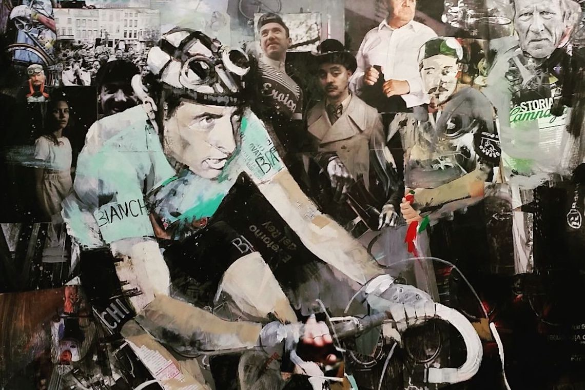 Miguel Soro cycling _art_painting_Fausto_Coppi