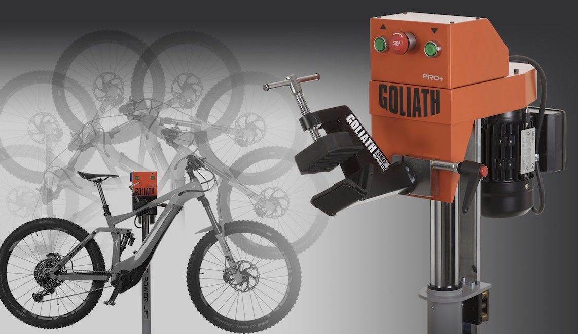 Goliath Bike Repair. Lo stand per le e-bike