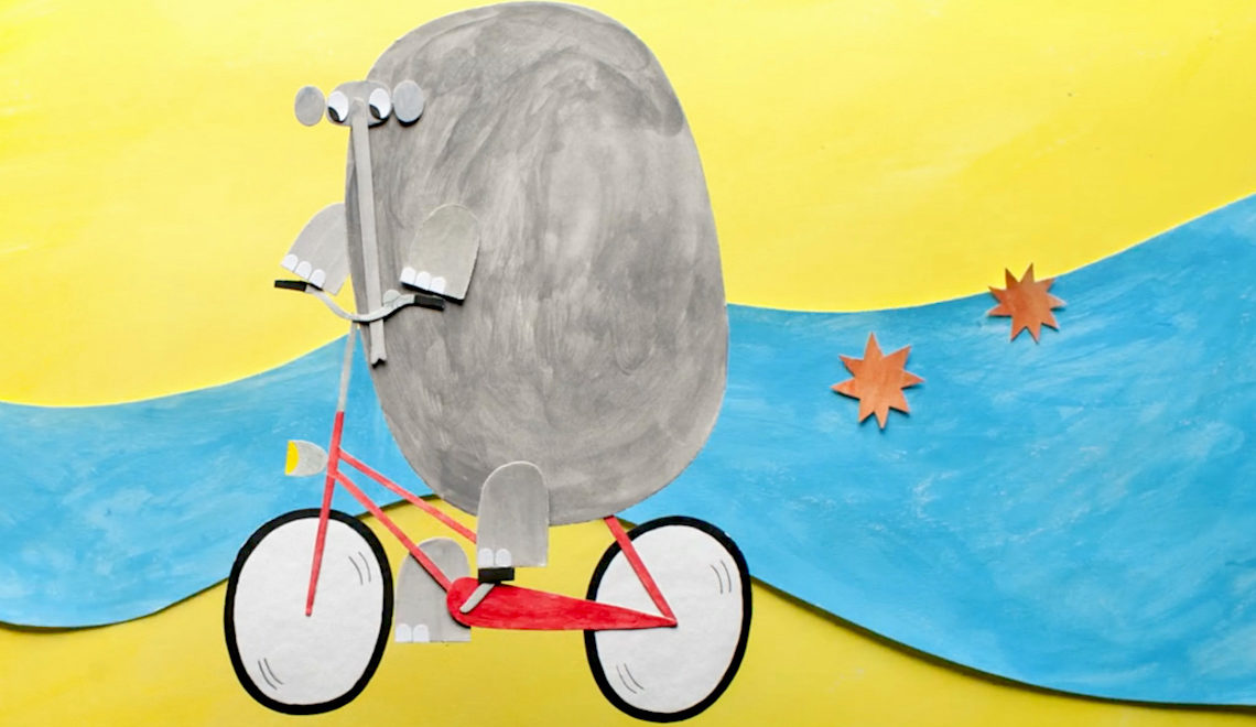 The Elephant and The Bicycle by Olesya Shchukina