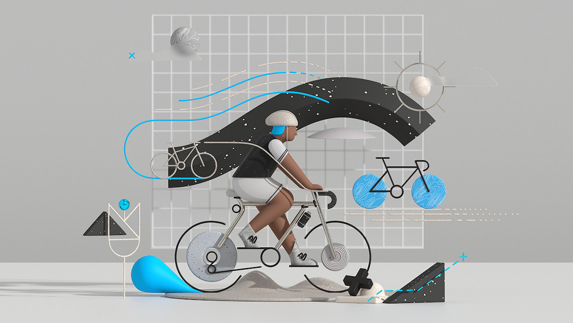 Fietssport_The illustration style_1