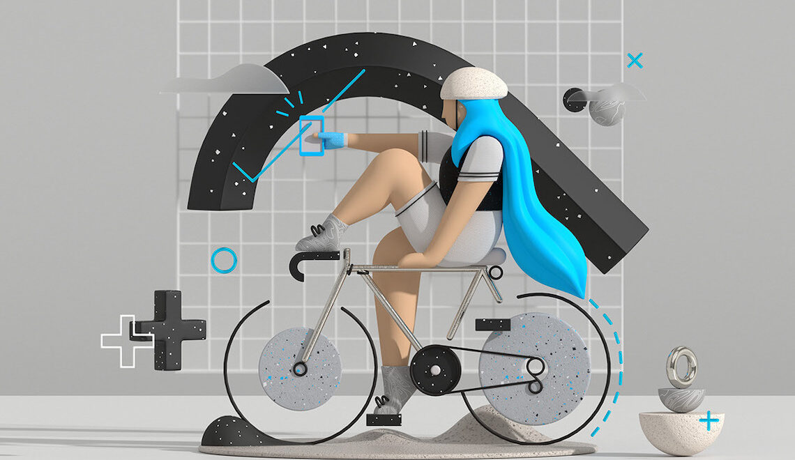 Fietssport.The illustration style. Progetto creativo