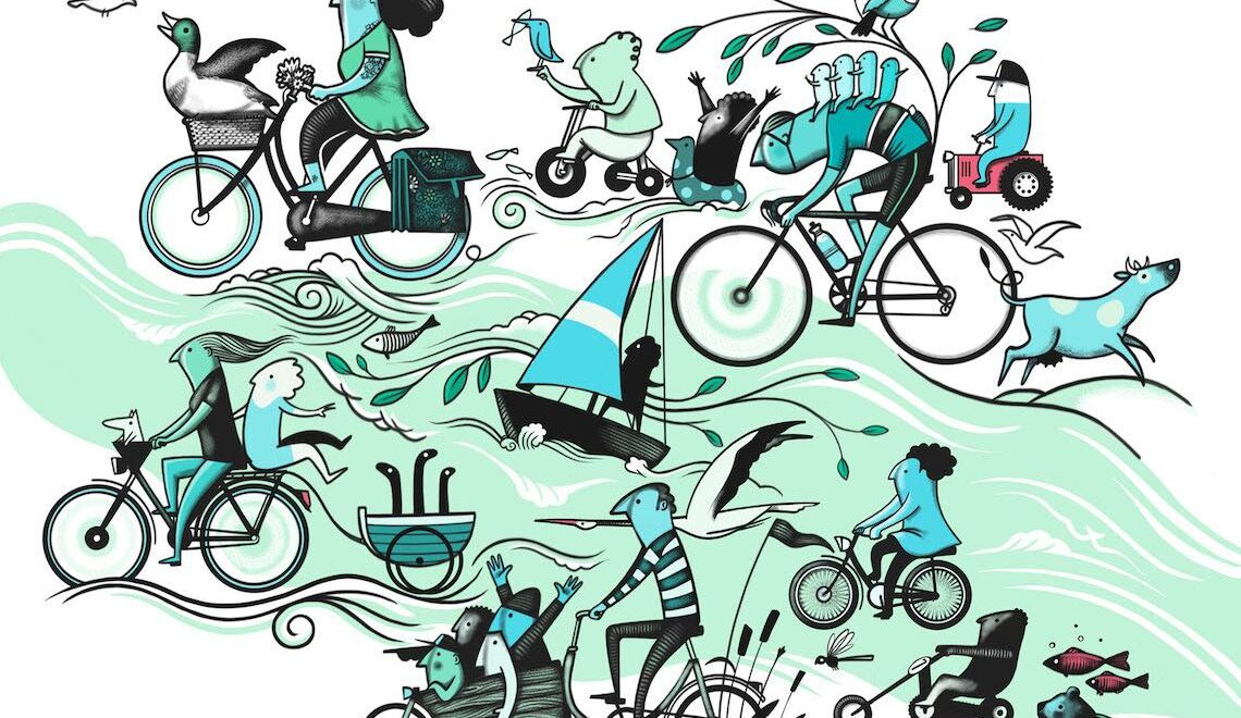 Cycling Routes. Le illustrazioni di Peter Goes