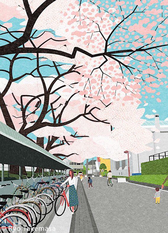 Ryo Takemasa_bicycle_illustrations_10