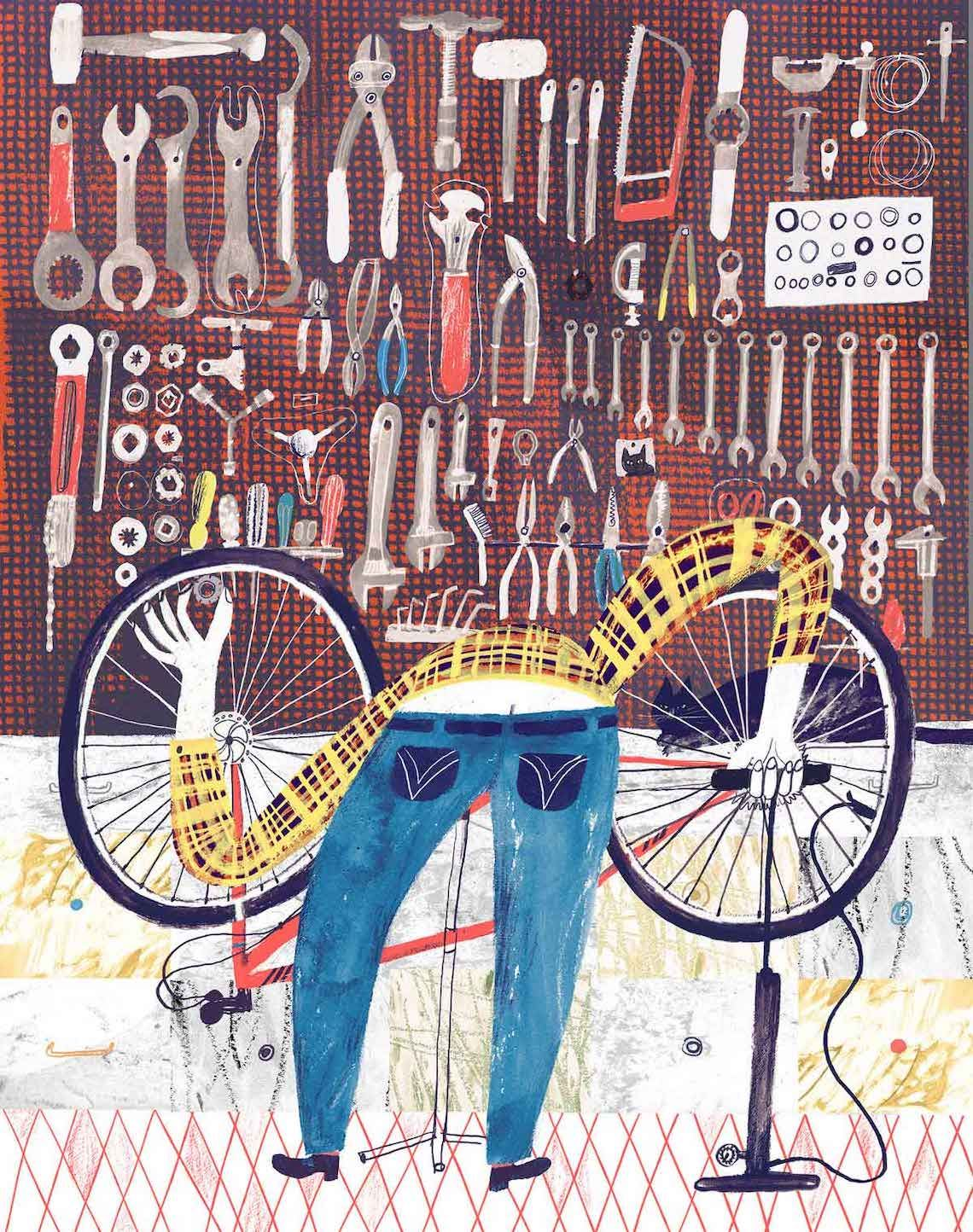 Olga Shtonda_01_Bicycle_Repairman