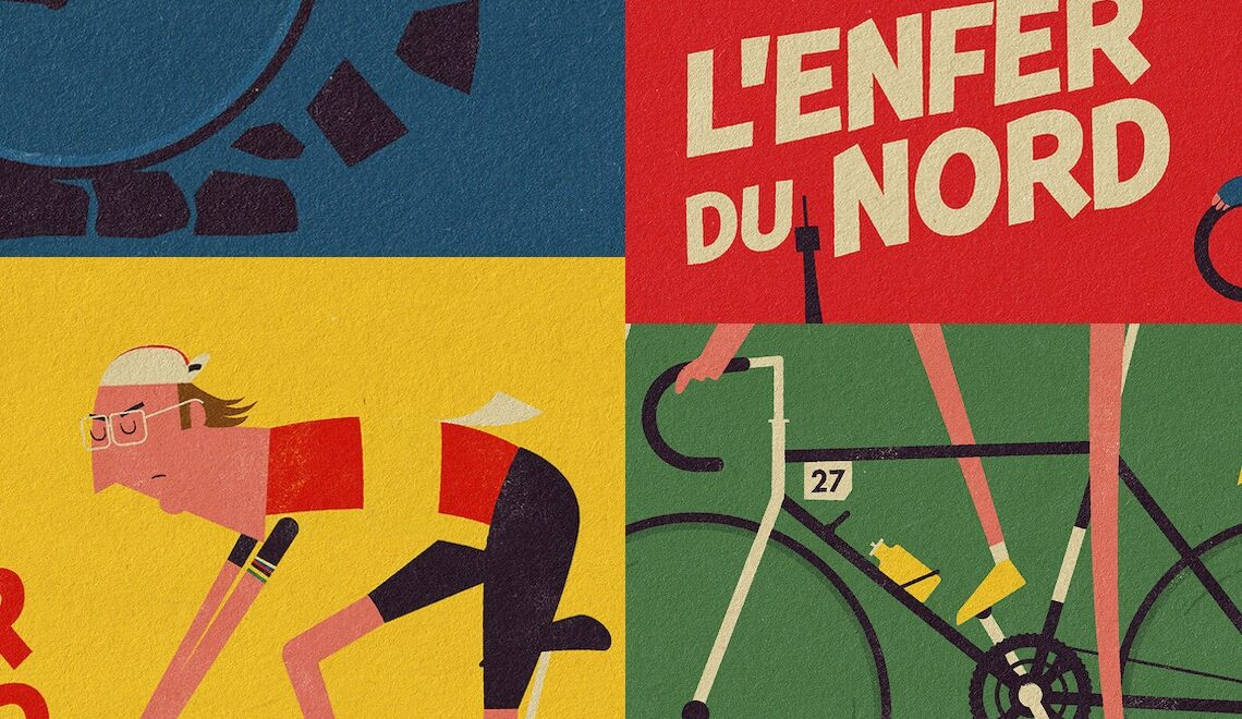 Retro Roubaix. Illustrazioni dei campioni, by Studio Grinta