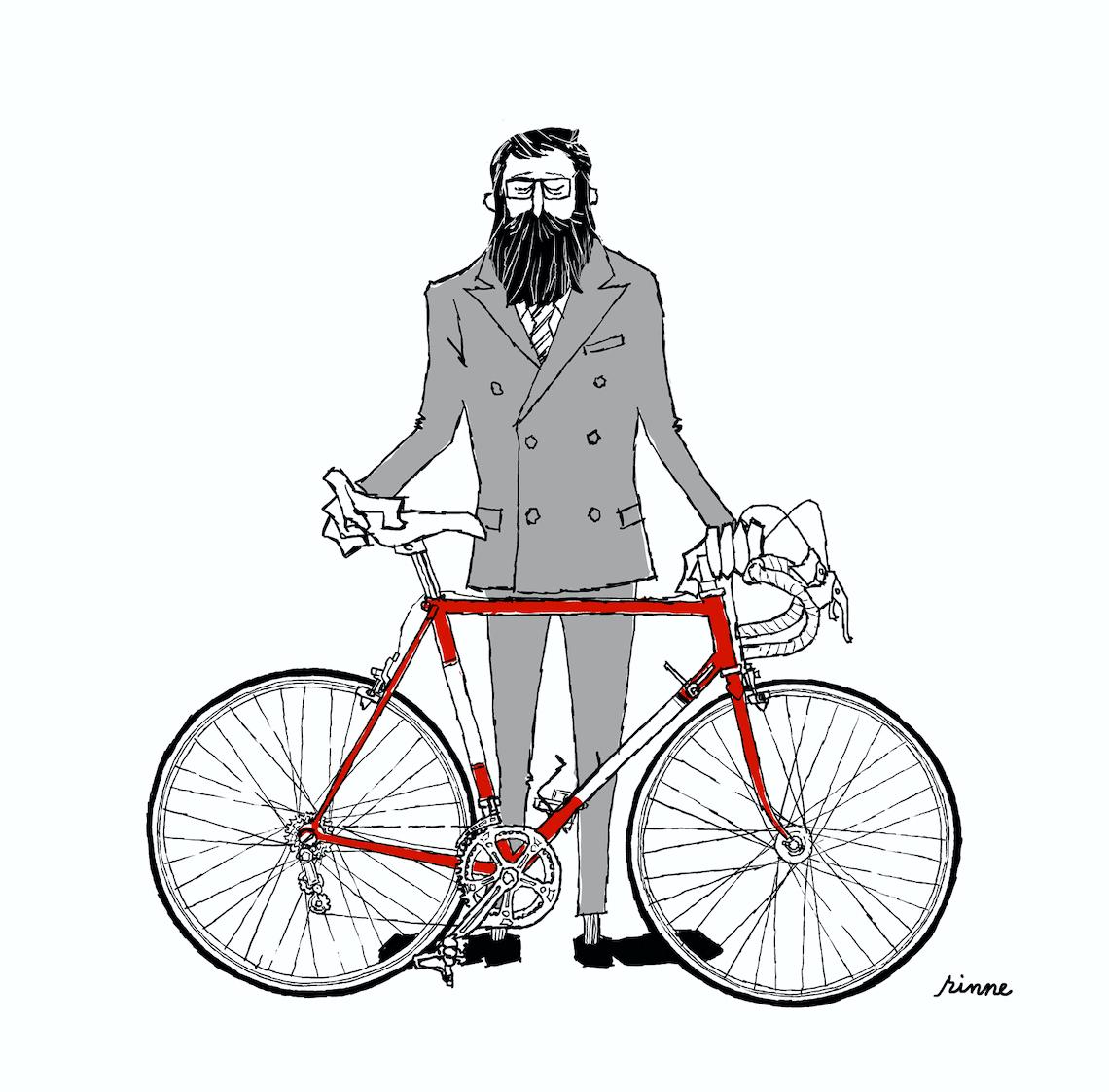 Rinne. Le illustrazioni di Tetsuro Ohno_Gentle_cyclist