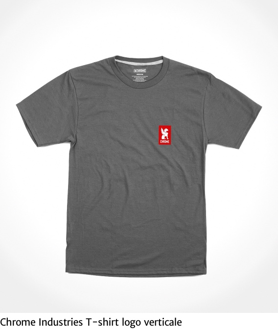 Chrome Industries T-shirt logo verticale_urbancycling_it