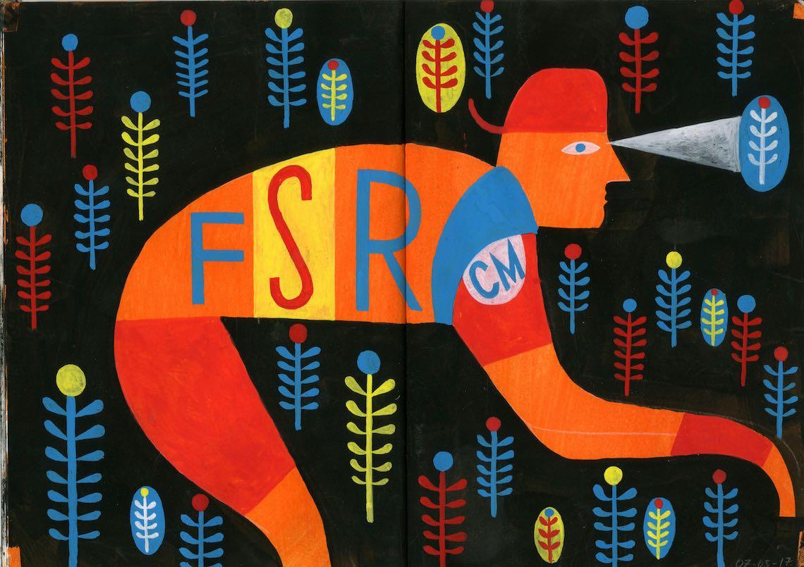 Russel Cobb_illustration_FSR Cycle Team Identity_