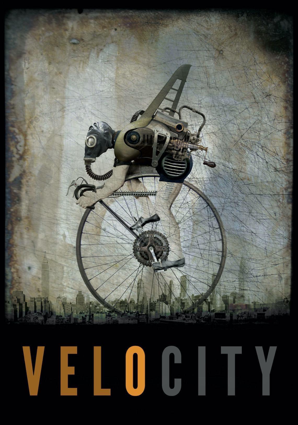 Viktor Koen Steampunk Bicycle Poster